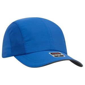 OTTO 6 Panel Polyester Pongee with Mesh Inserts and Reflective Sandwich Visor Running Hat