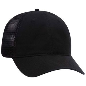 Custom OTTO Garment Washed Superior Cotton Twill Mesh Back 6 Panel Low Profile Mesh Back Trucker Dad Hat