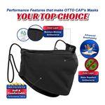 Custom OTTO CAP Contoured Binding Edge Face Mask w/Adjustable Straps & Nose Strip