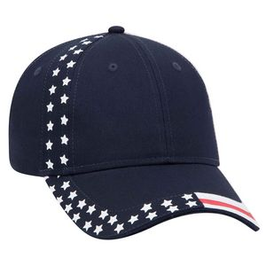 OTTO United States Flag Pattern Cotton Twill 6 Panel Low Profile Baseball Cap