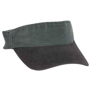 OTTO Garment Washed Pigment Dyed Cotton Twill Sun Visor w/