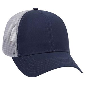 Custom OTTO Cotton Twill 6 Panel Low Profile Mesh Back Trucker Hat