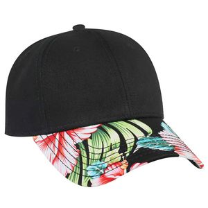 caa4321e6f2 OTTO Hawaiian Pattern Visor Superior Cotton Twill 6 Panel Low Profile  Baseball Cap - 19-1149 - IdeaStage Promotional Products