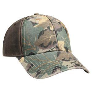 Custom OTTO Camouflage Garment Washed Cotton Twill w/ PU Coated Back 6 Panel Low Profile Baseball Cap