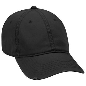 Custom OTTO Garment Washed Superior Cotton Twill Distressed Visor 6 Panel Low Profile Dad Hat
