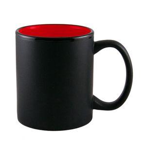 Custom 11 Oz. Two Tone Black Matte Mug