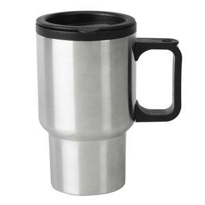 16 Oz. Stainless Steel Travel Mug w/ Plastic Liner