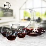 5 Piece Wine Decanter Set