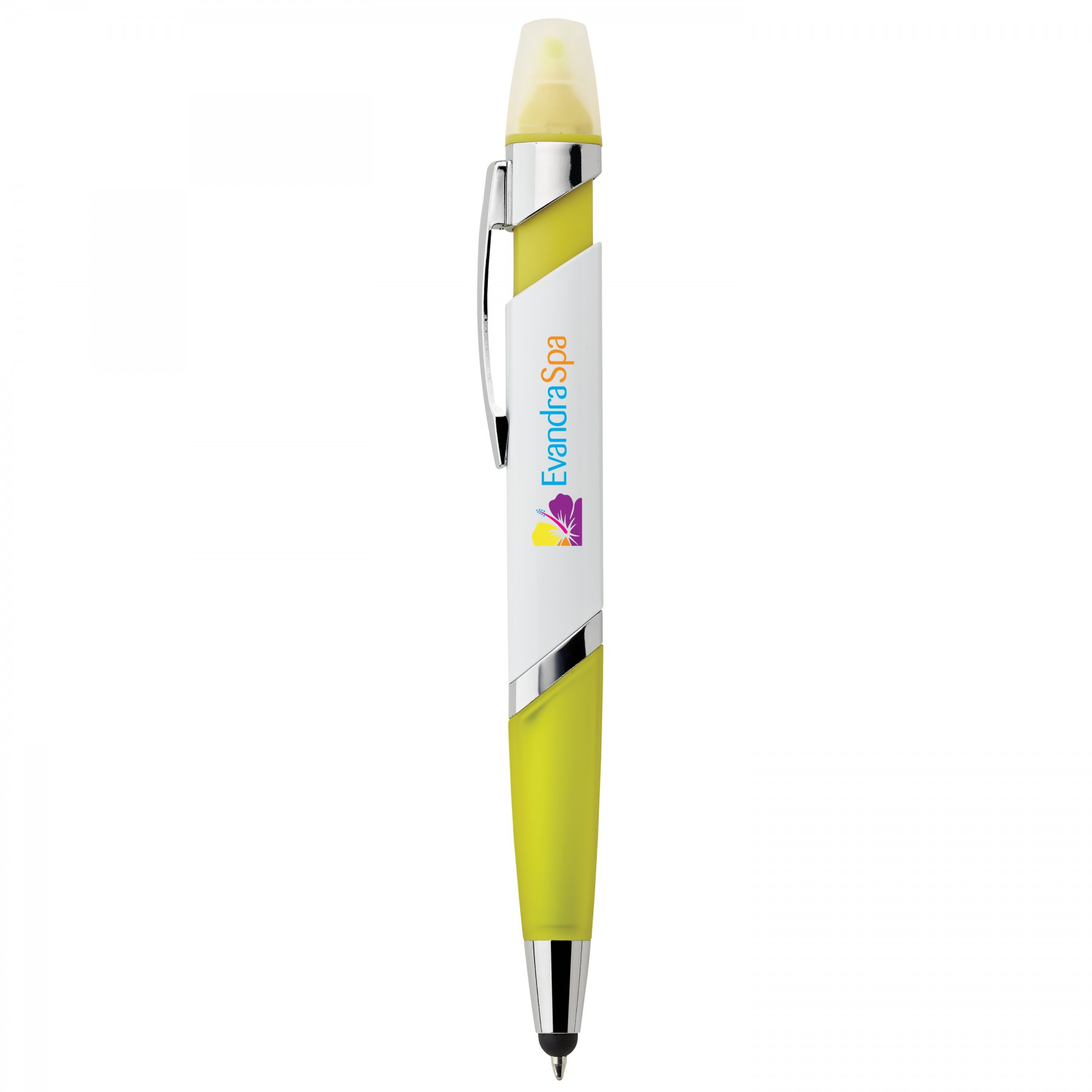 Cynthia Highlighter 3-In-1 Ballpoint Pen, I149, Full Colour Imprint