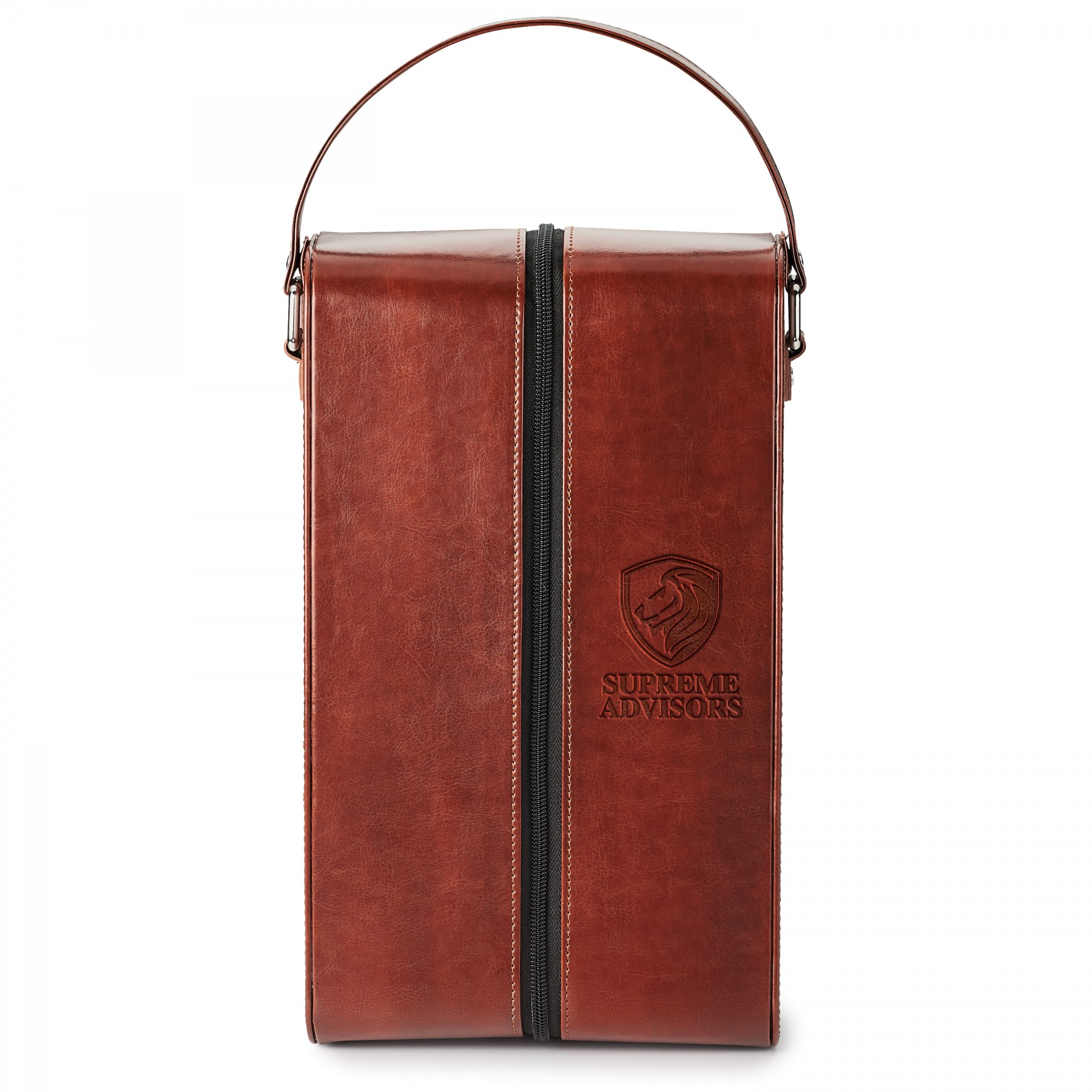 Fabrizio Dual Wine Carrying Case, SH101, Debossed Logo