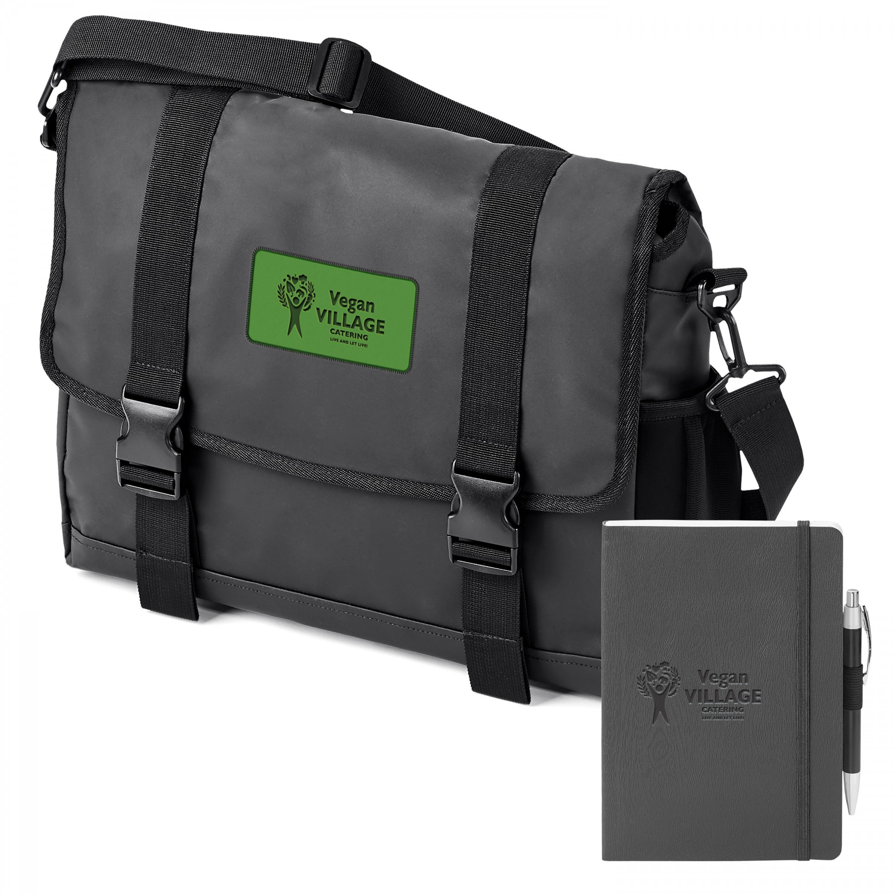 Call Of The Wild Messenger Urban Commuter Bundle, BB133, Debossed Logo