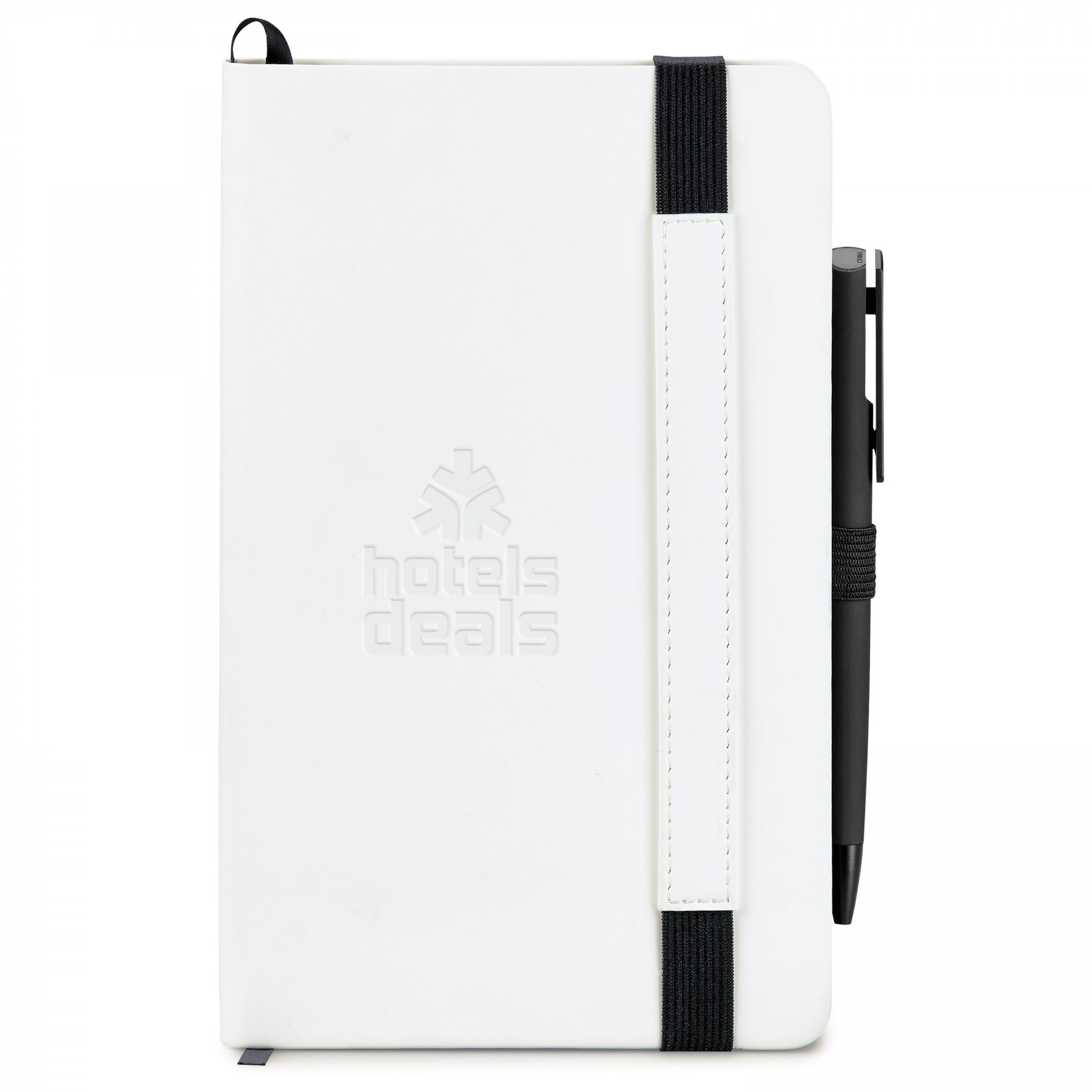 Hard Cover Non-Refillable Journal Combo - Shiny Deboss Imprint (ST4716)
