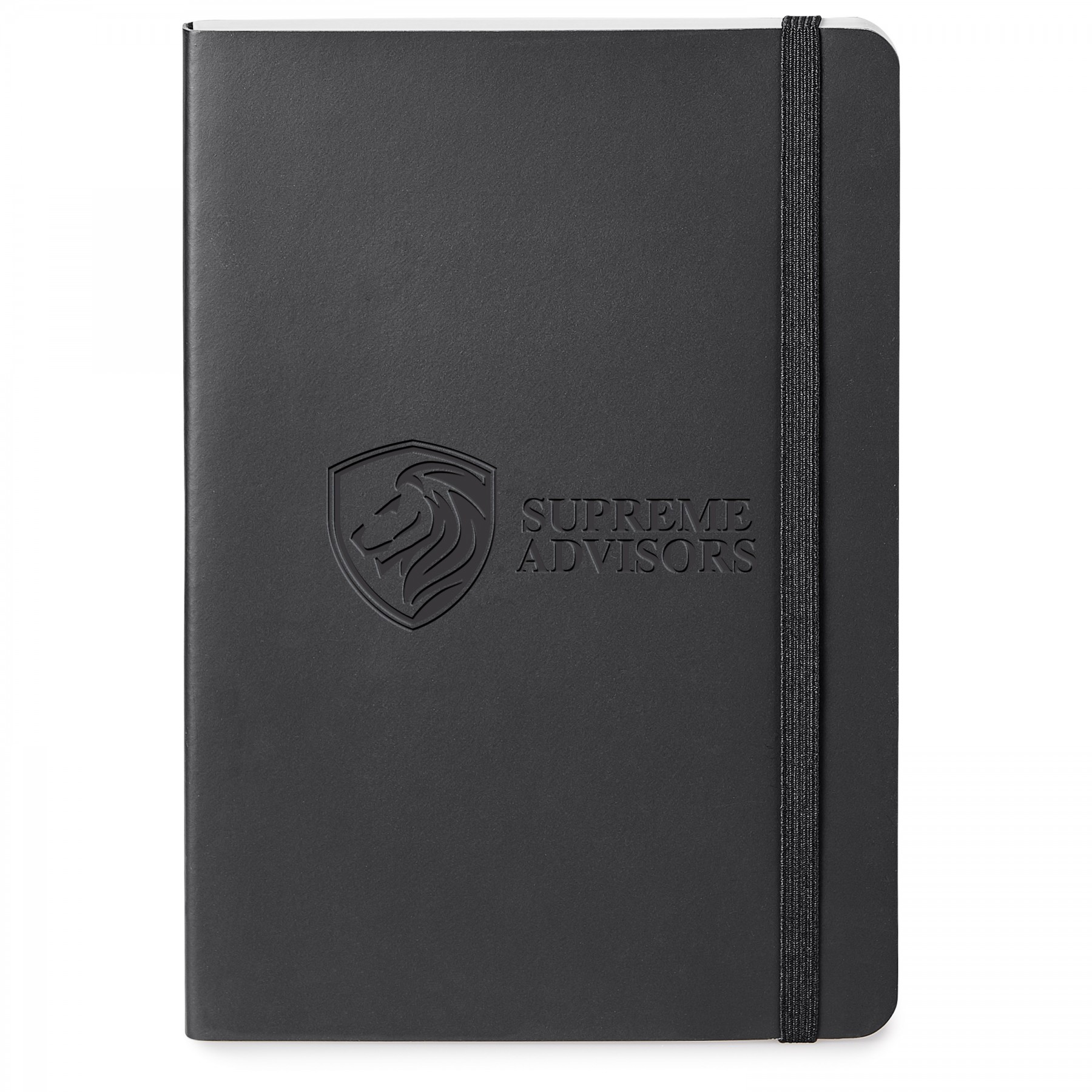 Giuseppe Di Natale Perfect Bound Leather Journal, ST601, Debossed Logo