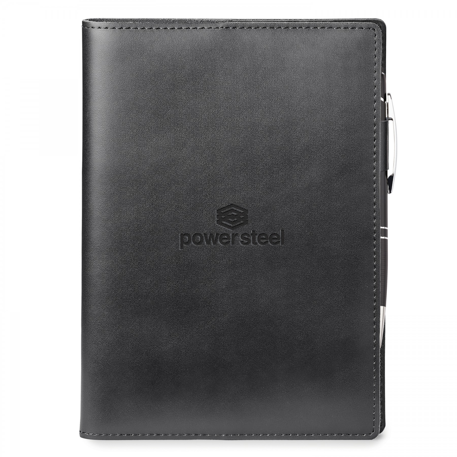 Genuine Leather Refillable Journal Combo - Debossed Imprint (GF4688)