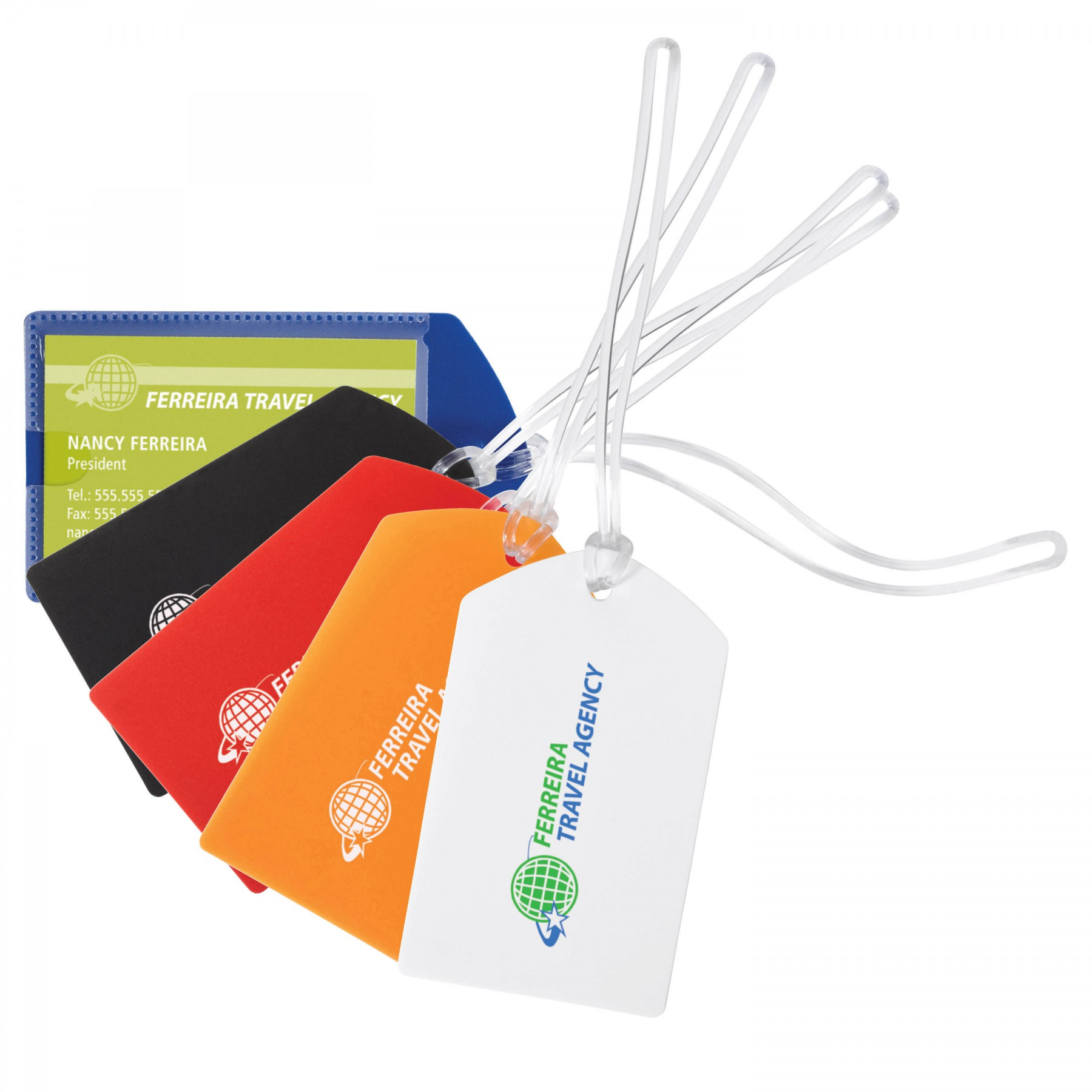 Polypro Luggage Tag - 1 Colour Imprint (G8061)