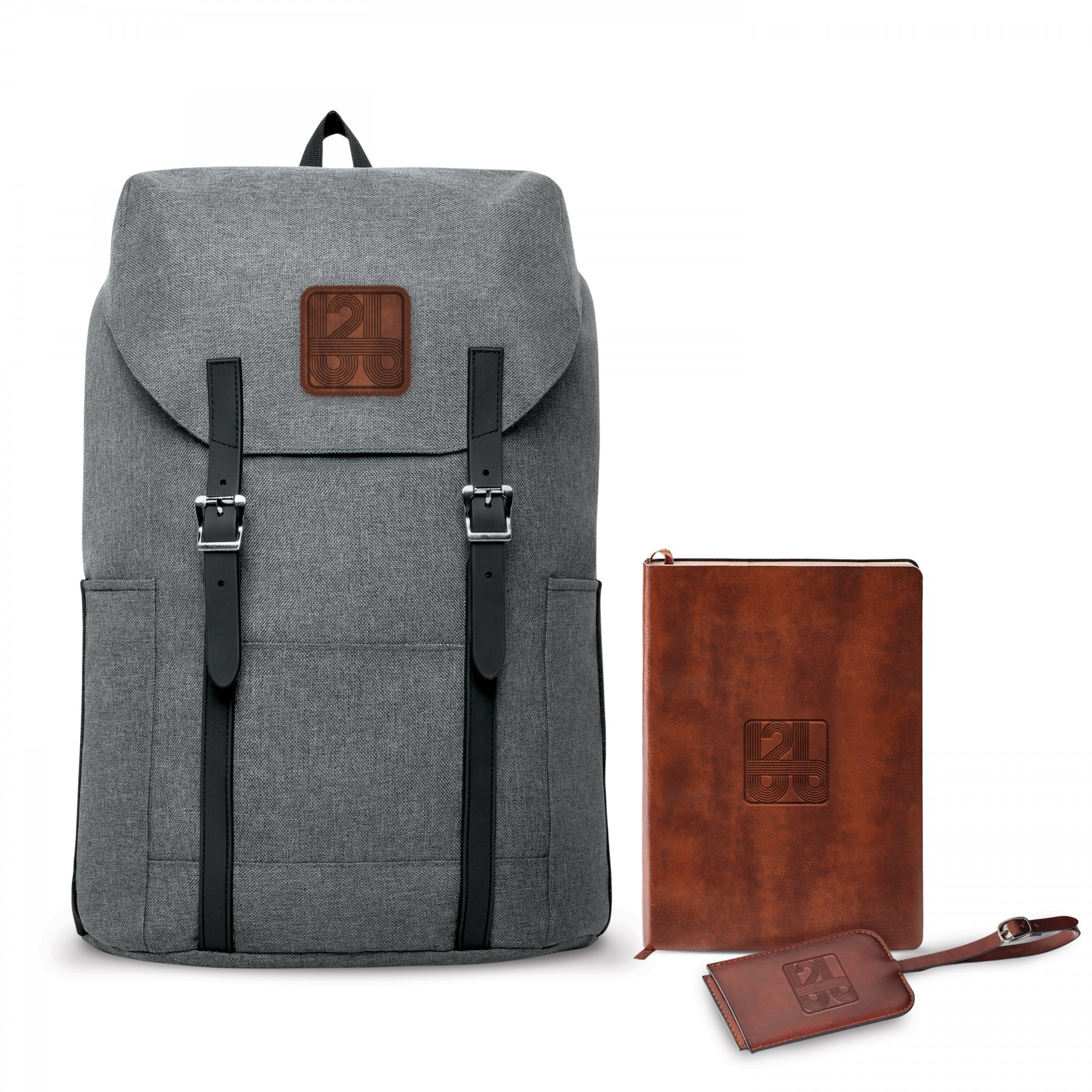 Nomad Must Haves Flip-Top Backpack Fabrizio Bundle, BB103, Debossed Logo