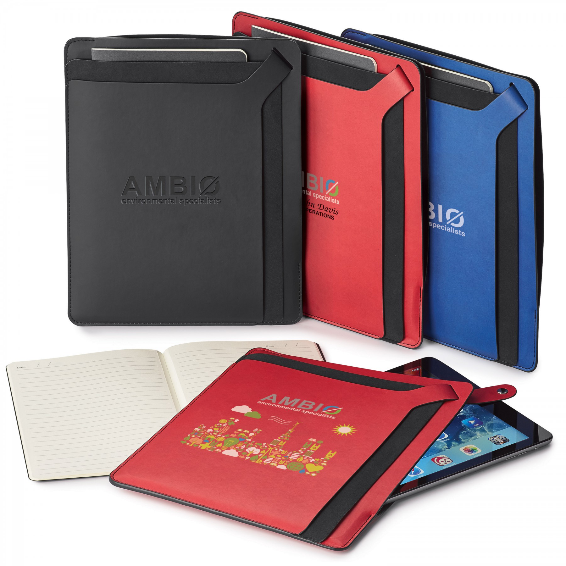 Donald Tablet Sleeve With Journal - Debossed Imprint (ST508)