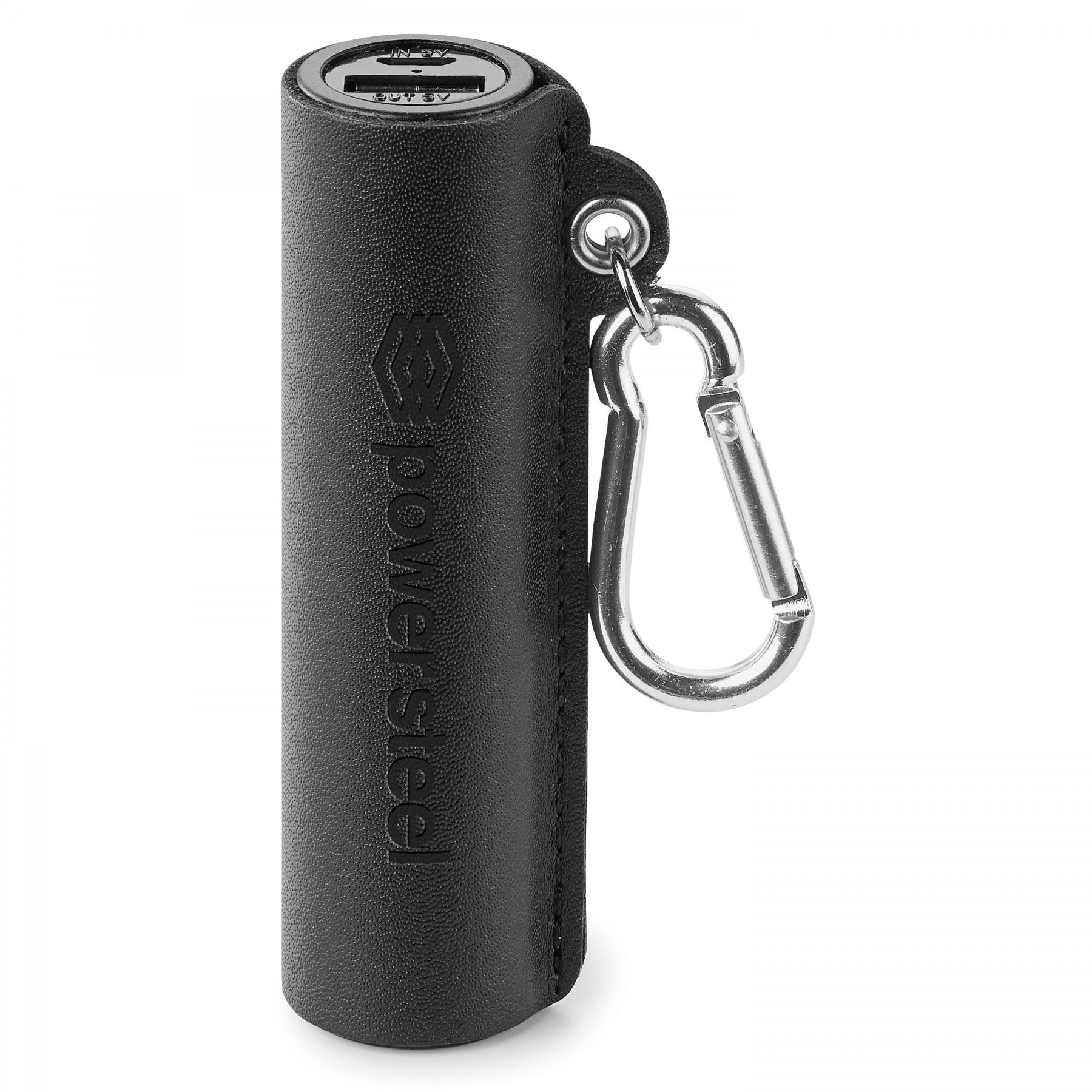 GENUINE LEATHER 2,200 mAh UL CERTIFIED POWER BANK, T9934, Debossed Logo