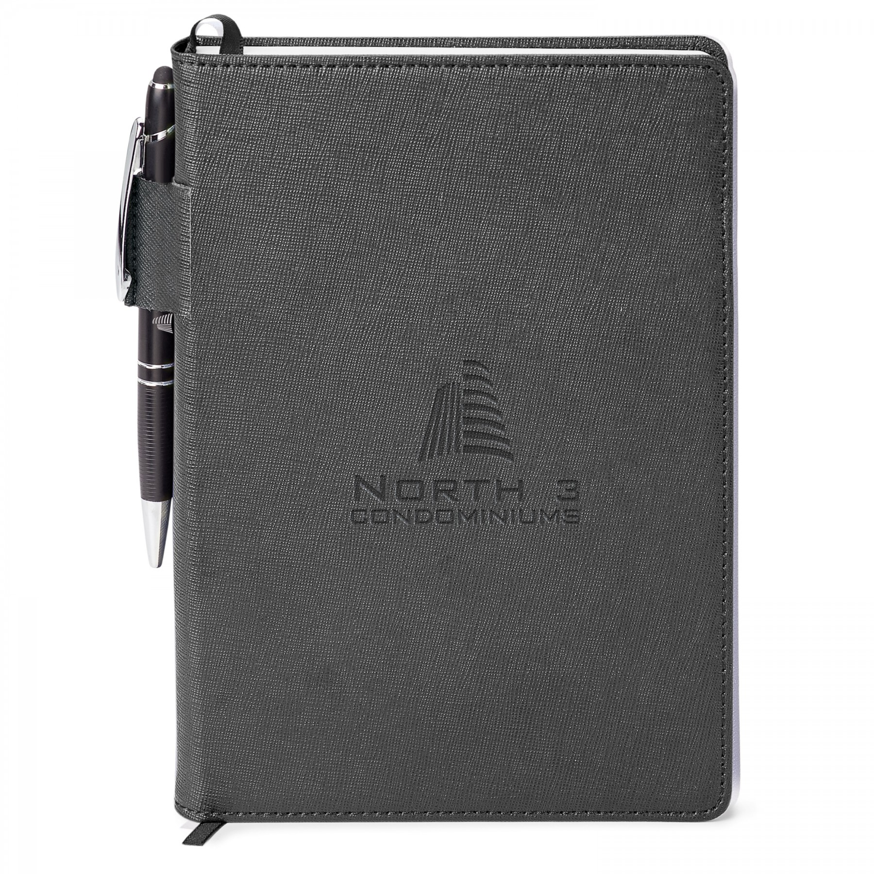 Genuine Leather Non-Refillable Journal Combo, GF4668, Laser Engraved