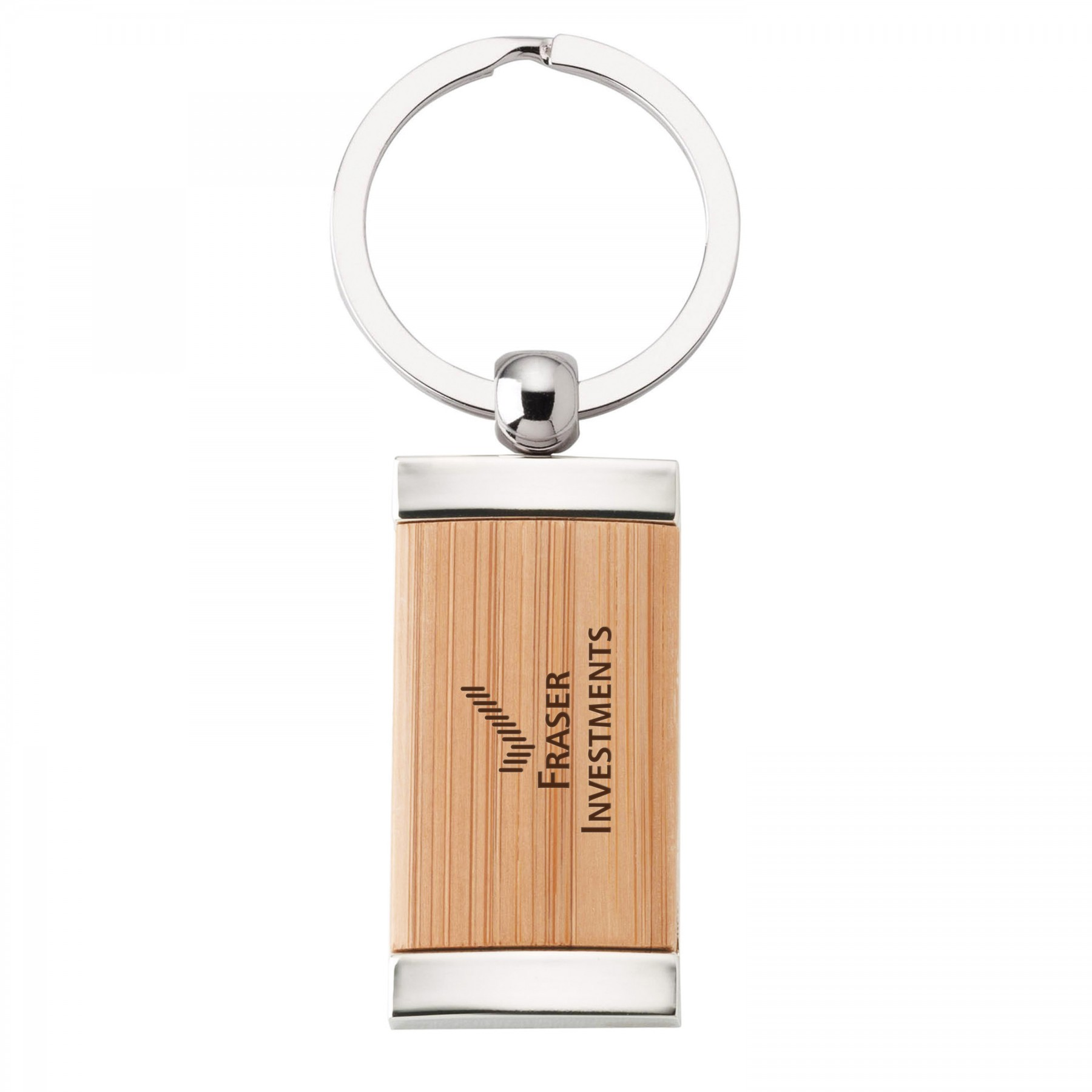 Bamboo Key Ring - Laser Engraved (G8039)
