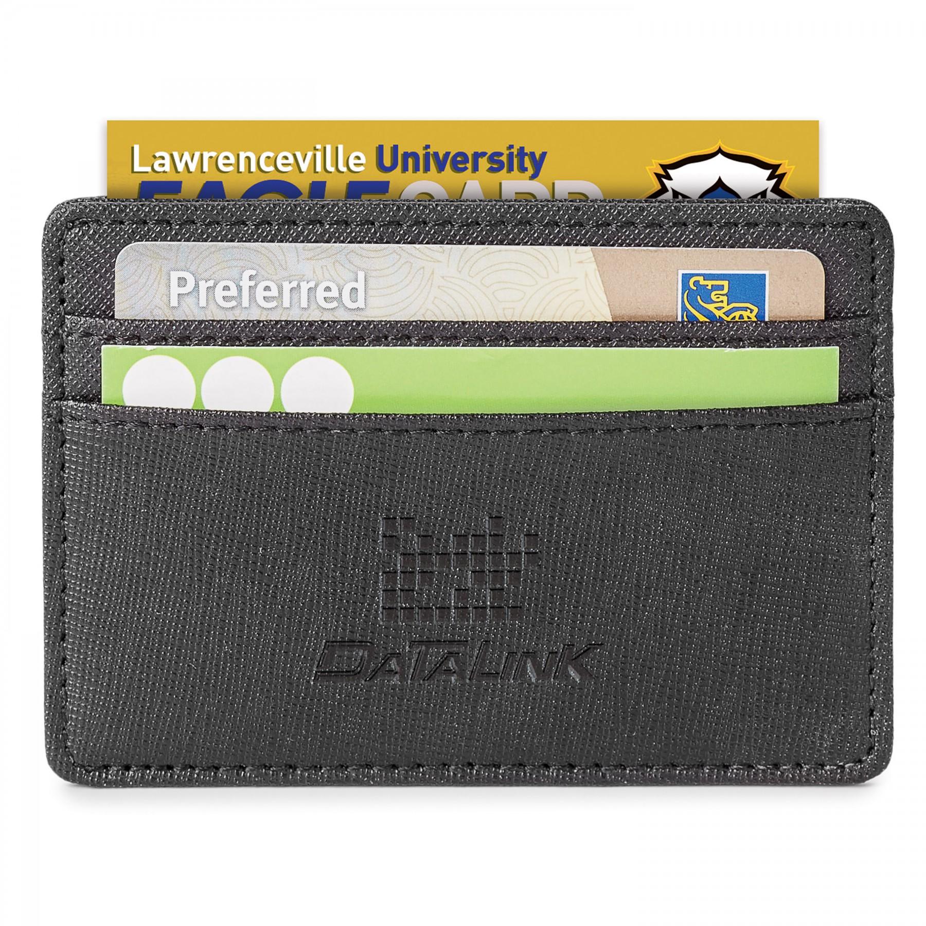 Genuine Leather Rfid Card Holder - Debossed Imprint (ST148)