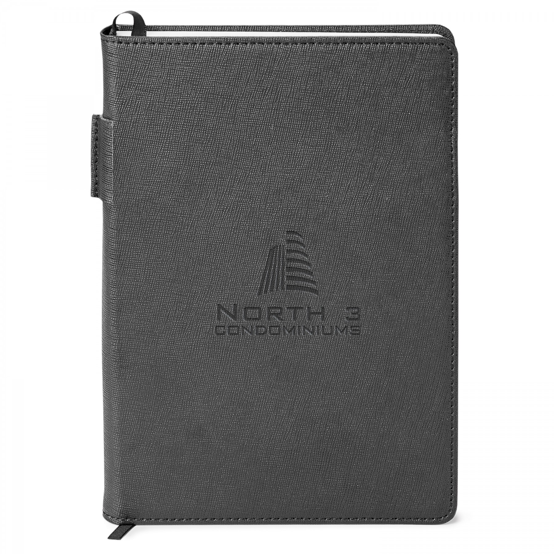 Genuine Leather Non-Refillable Journal, ST4660, Debossed Logo
