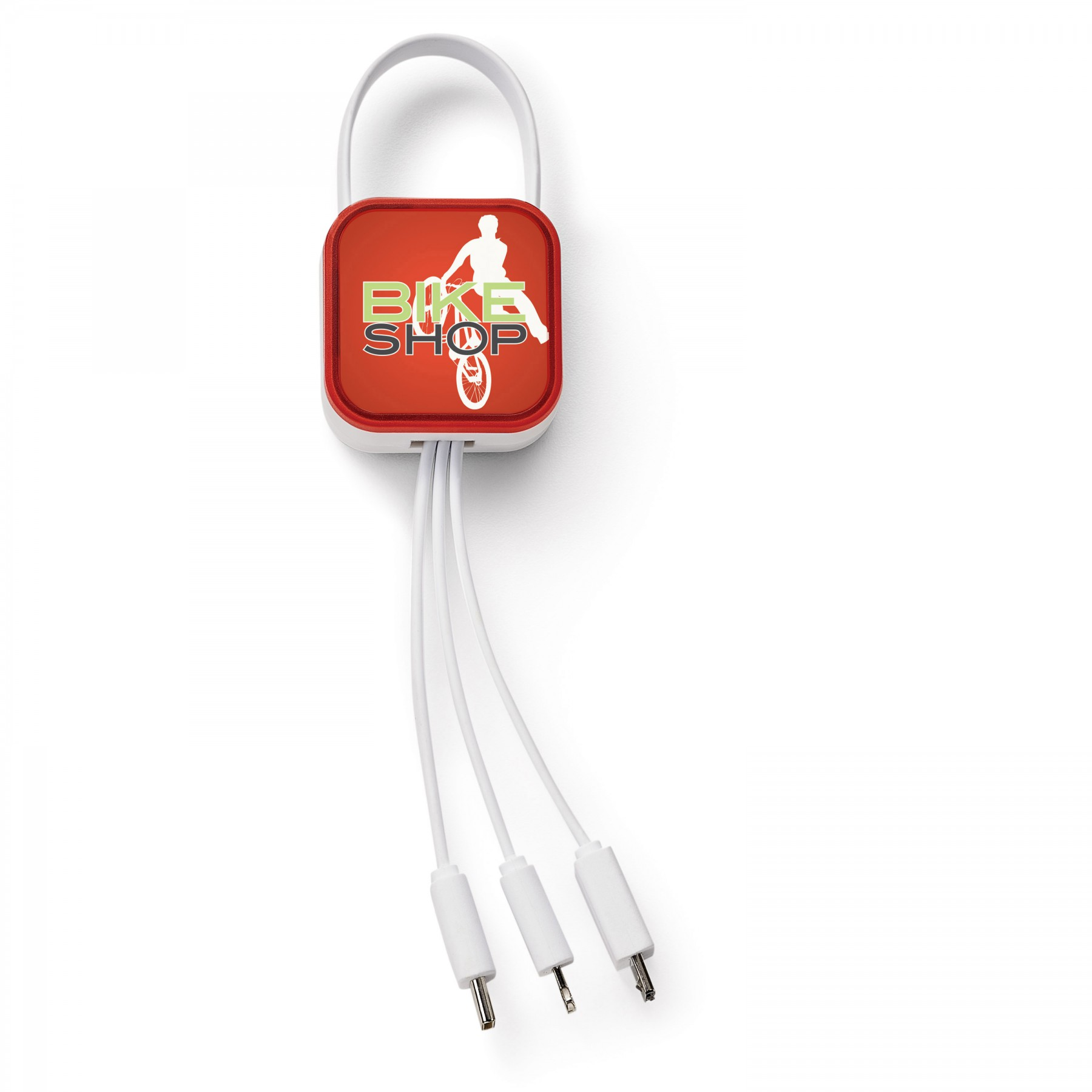 Ray 4-In-1 Charging Cable, T140, Full Colour Imprint