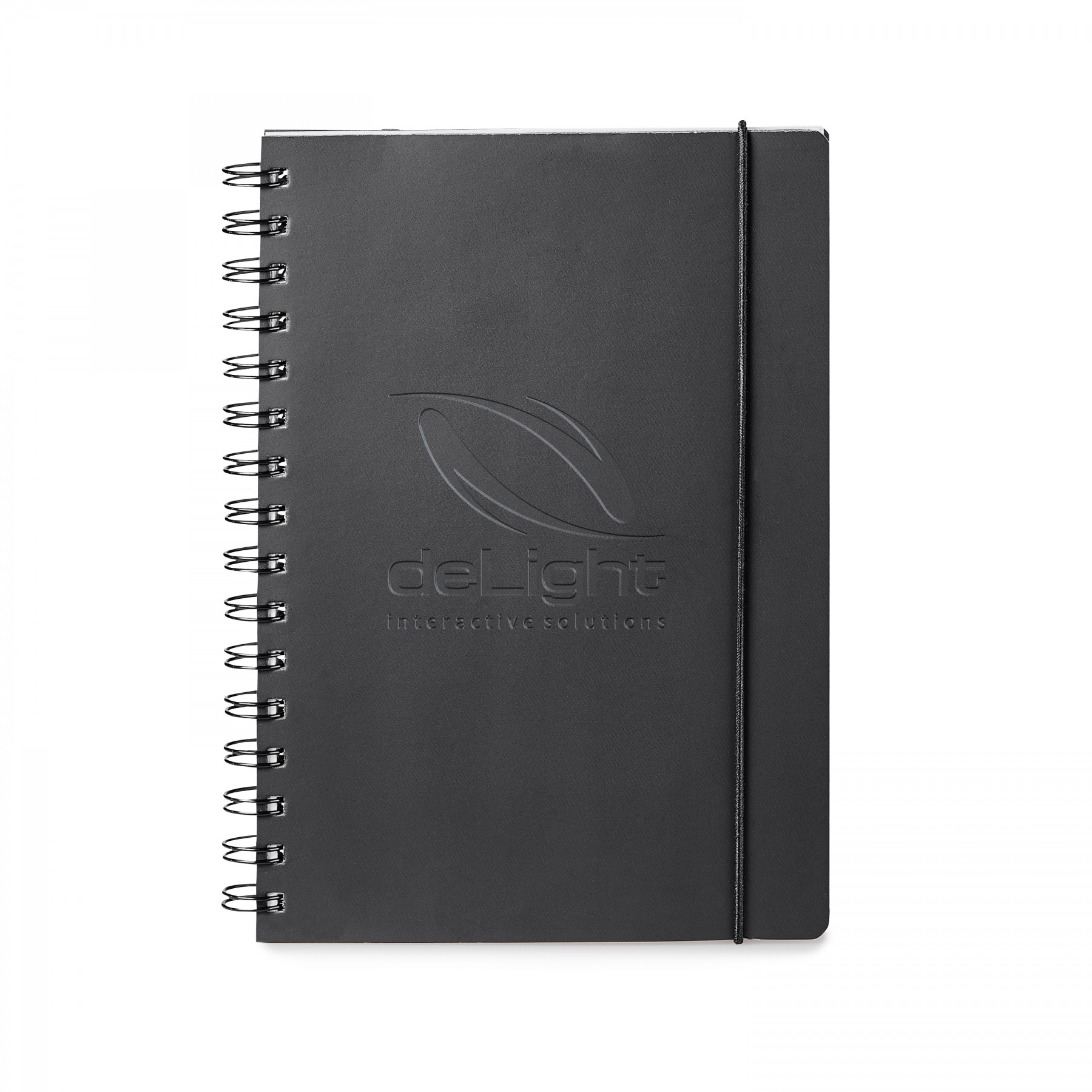 Giuseppe Di Natale Spiral Bound Leather Journal - Debossed Imprint (ST602)