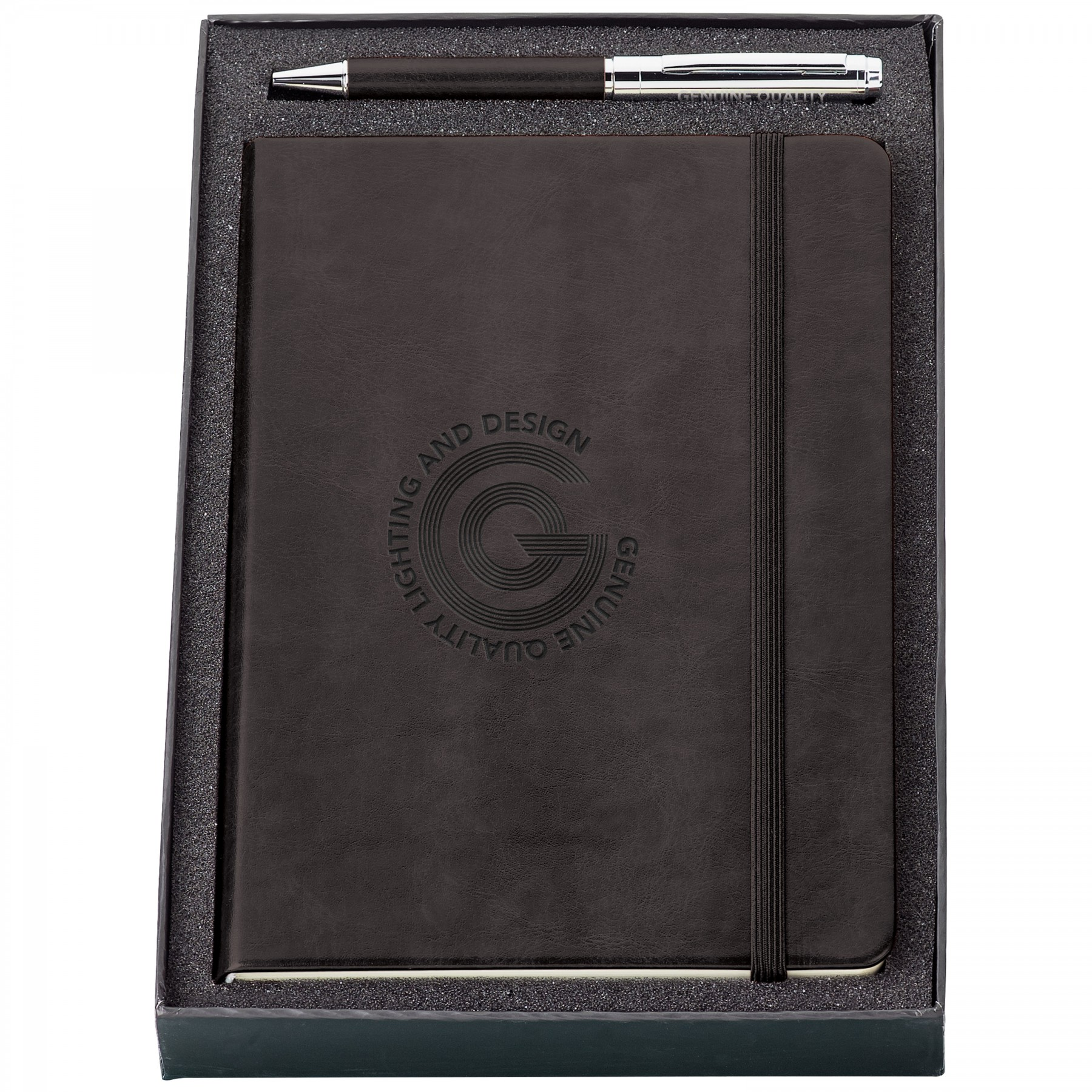 Fabrizio Pen & Journal Gift Set, ST4349, Debossed Logo