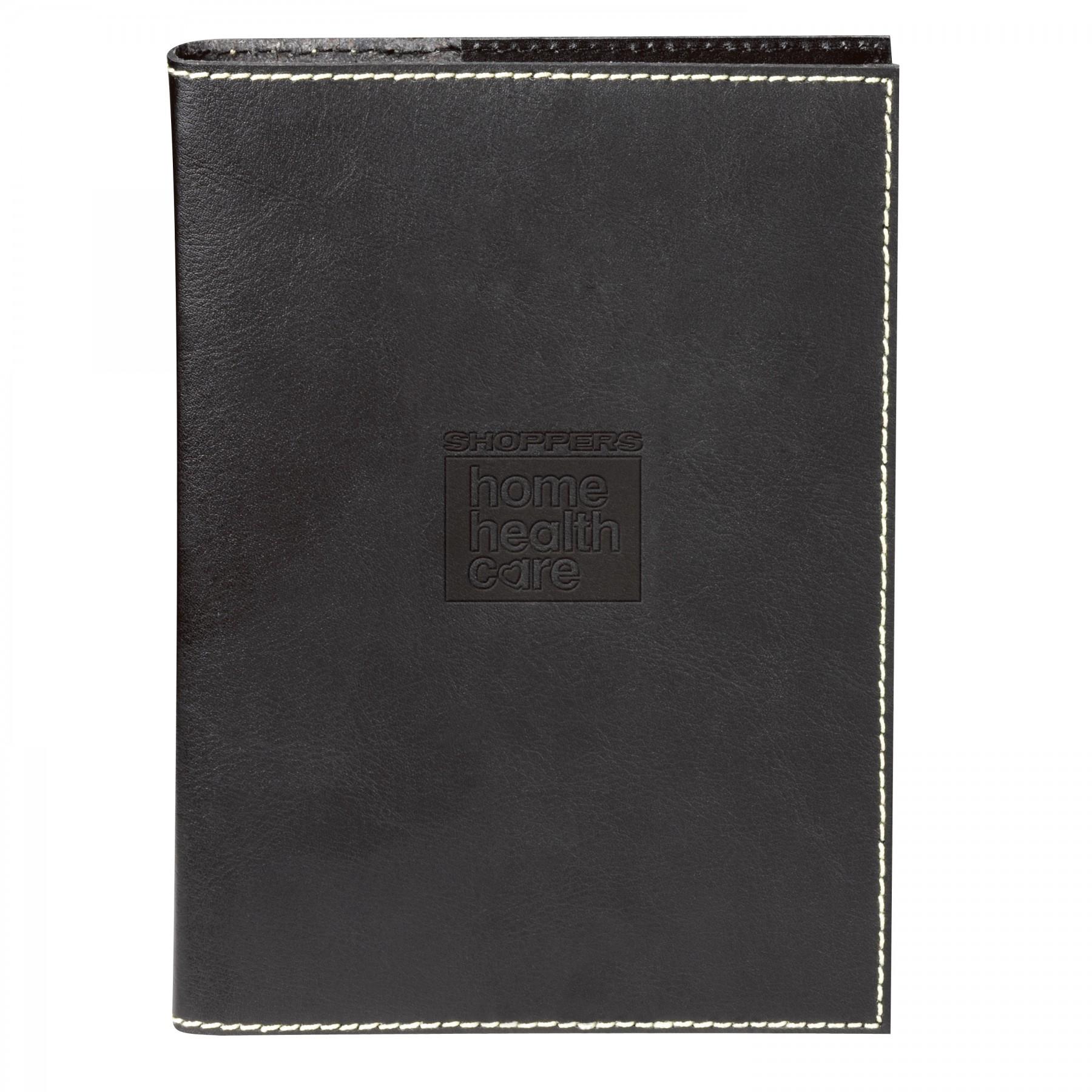 Primetime Refillable Leather Journal, ST412, Debossed Logo