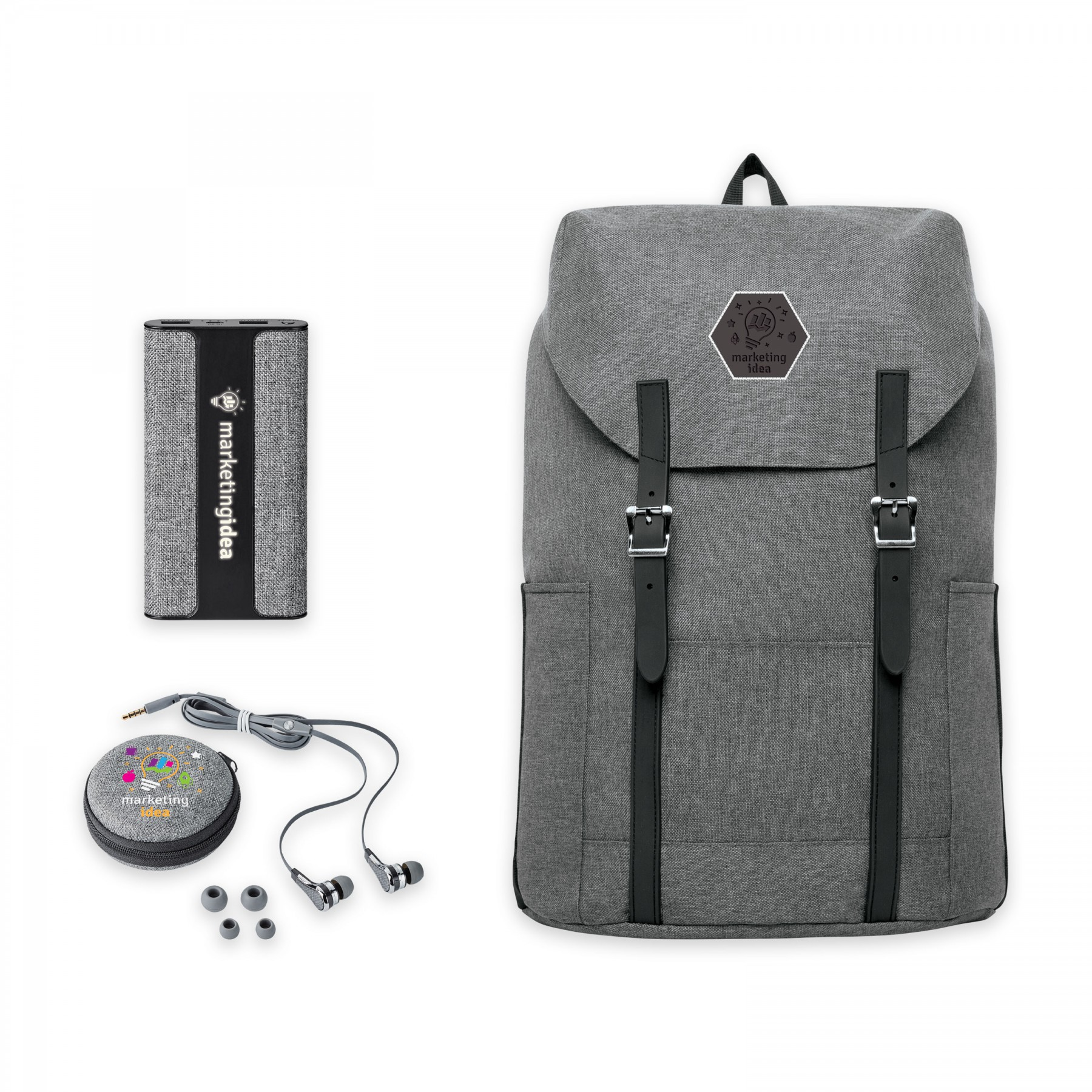 Nomad Must Haves Flip-Top Backpack Active Bundle, BB125, Full Colour Imprint