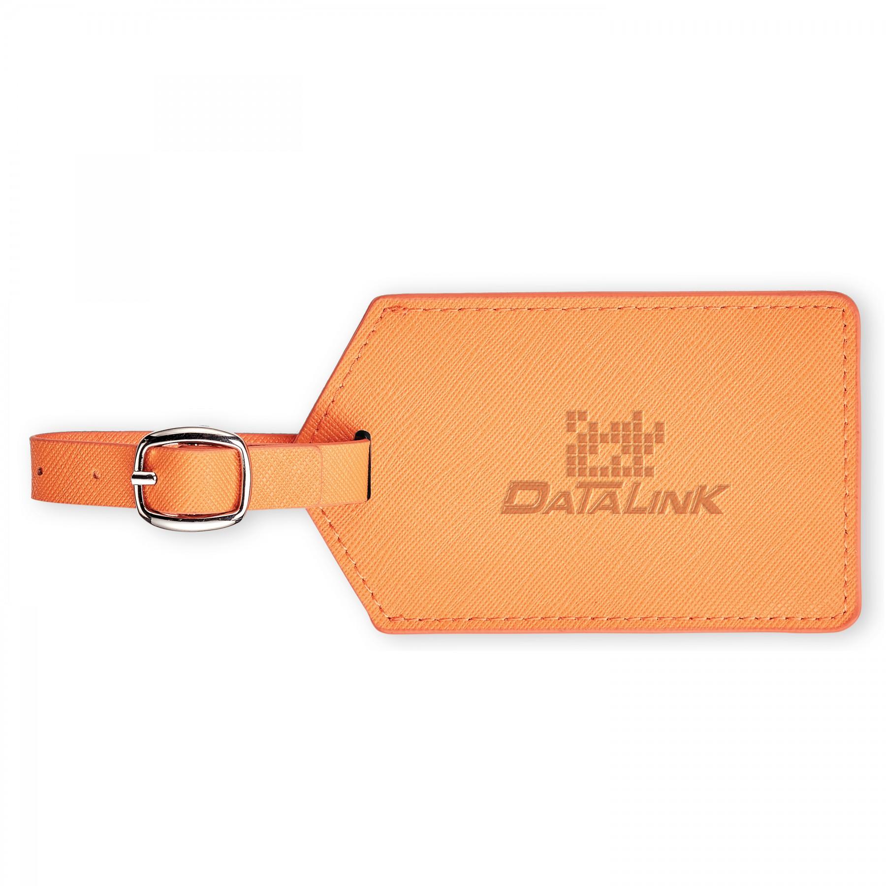 Toscano Genuine Leather Luggage Tag - Debossed Imprint (G528)