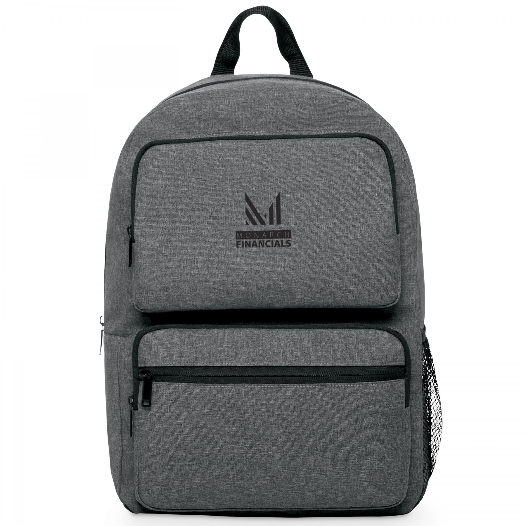 Business Smart Dual-Pocket Backpack, BG102, One Colour Imprint