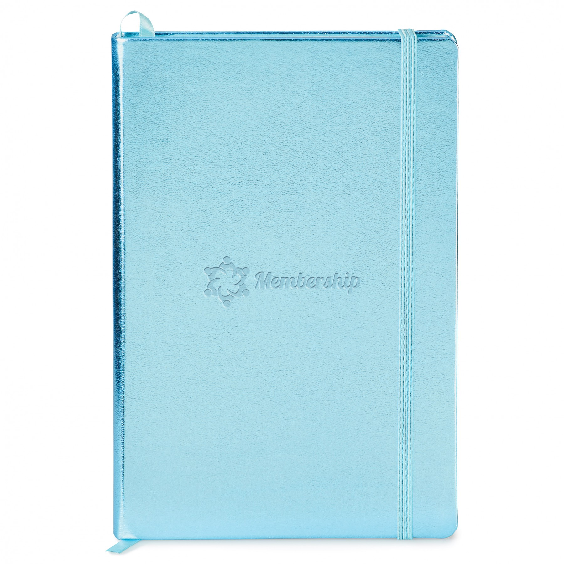 Metallic Neoskin Hard Cover Journal, ST4175, Debossed Logo