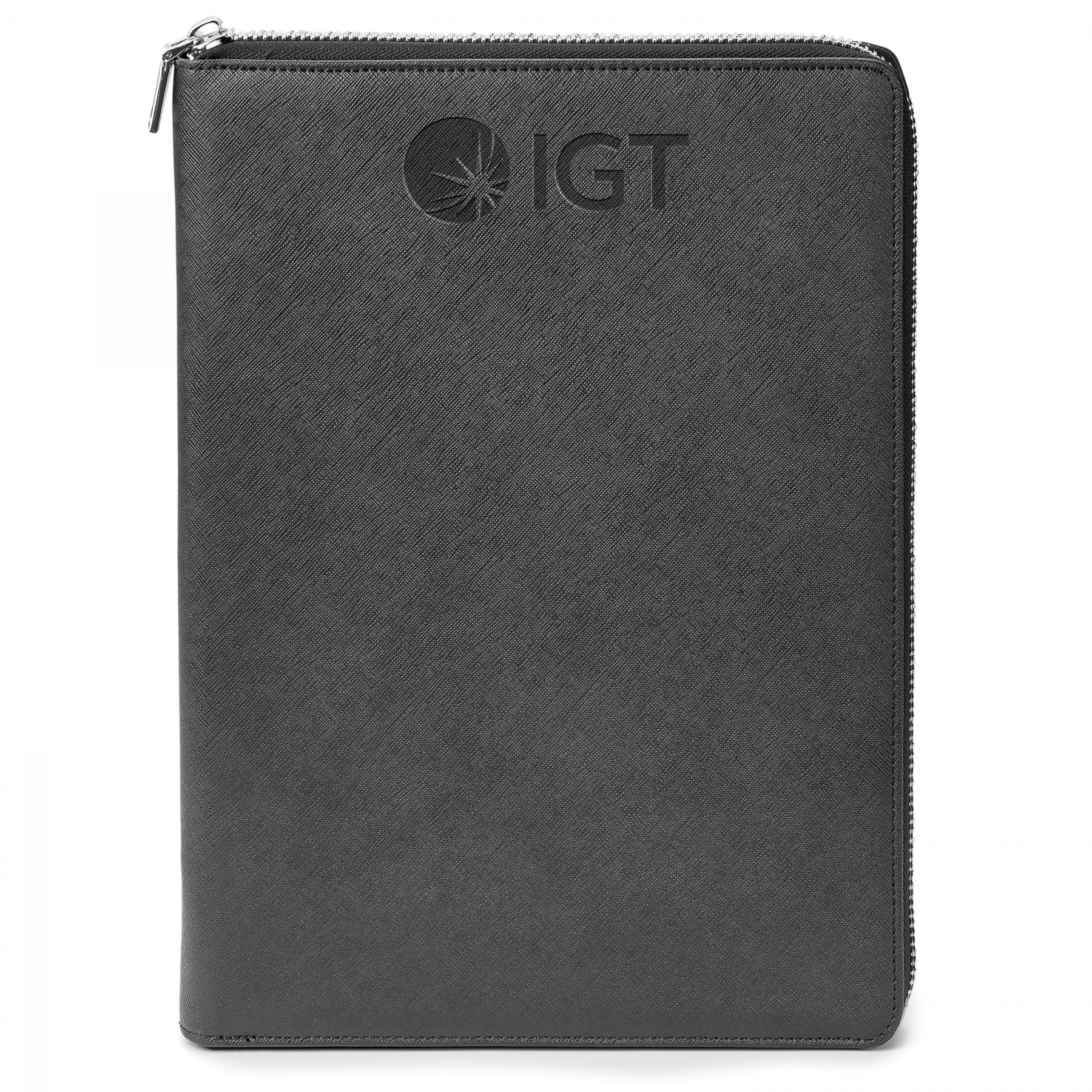Genuine Leather A4 Size Rfid Portfolio - Debossed Imprint (ST605)