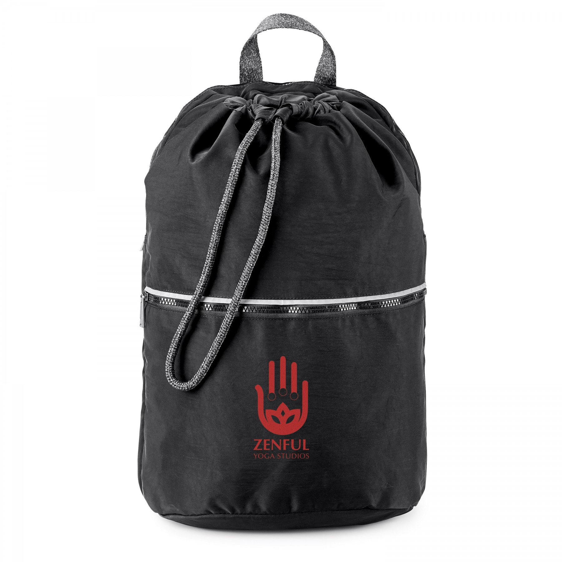 Athleisure Drawstring Backpack, BG112, One Colour Imprint