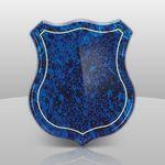 Custom Blue Shield Shape Plaque (9