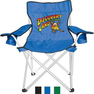 Superb Camping Folding Chair With Dual Cup Holder Theyellowbook Wood Chair Design Ideas Theyellowbookinfo