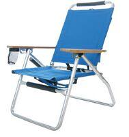 "Beach Chair w/Fishing Rod Holder (34.5""x18.5""x15.5"")"