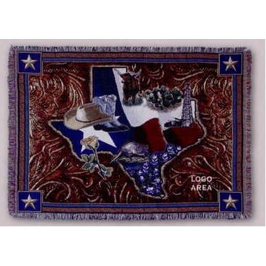"Tapestry Stock Woven Throws - Lone Star State (53""x67"")"
