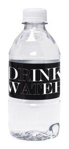 12 Oz. Custom Labeled Bottled Spring Water w/Flat Cap