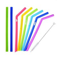 Silicone reusable Straw - Bent