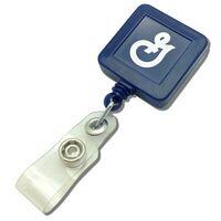 Pad Printed Square Plastic Badge Reel