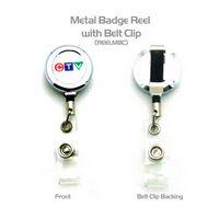 Metal Badge Reel w/ Back Clip