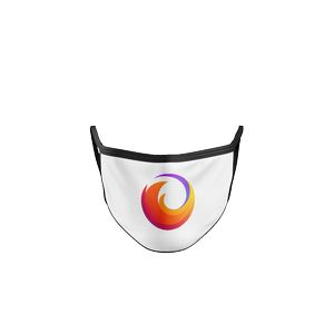 2 Ply Sublimated Polyester Mask (White Background with Black Piping)