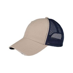 83be0a33e98 Unstructured Organic Cotton Mesh Cap w  Frayed Bill - 6887 - IdeaStage  Promotional Products