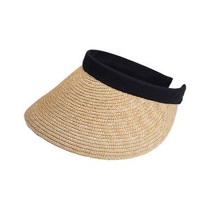 Sewn Braid Wheat Straw Clip-On Visor - 8402 - IdeaStage Promotional Products 637f0c8e6129