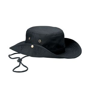 f7c361c61af6ad Brushed Twill Aussie Hat w/ Side Snaps & Chin Cord - 7805 - IdeaStage  Promotional Products