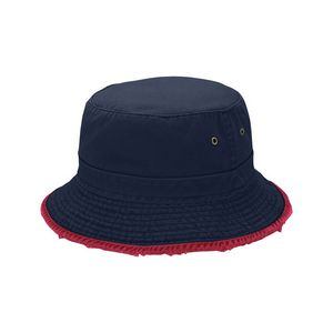 561b21d15e7239 Cotton Twill Heavy Washed Bucket Hat w/ Frayed Brim - 7823 - IdeaStage  Promotional Products