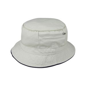 Cotton Twill Washed Bucket Hat w  Zipper Pocket - 7825 - IdeaStage  Promotional Products 00be6a5e0a4